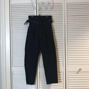 Pants - Super High Waist Trouser w. belt
